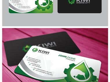 Kiwi Engine-Uity Logo and Business Card