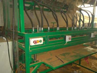 Coir block drilling machine