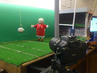 Rugby stop-motion animation