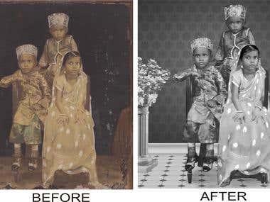 image retouching & restoration