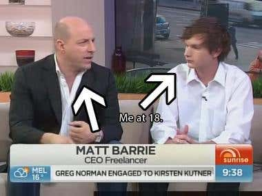 Channel 7's Sunrise Show with CEO of Freelancer Matt Barrie
