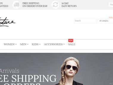 E commerce Store in Magento