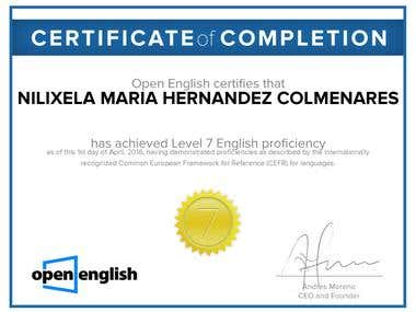 English Certificated