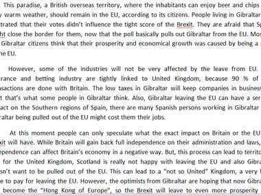 Gibraltar & Brexit