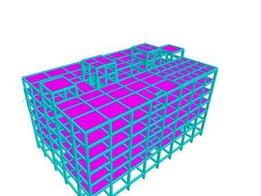 Structural Analysis in Staad Pro.