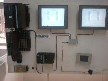 Simulation and process control rig with master and client HM