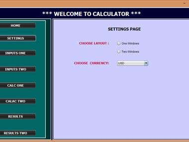 Calculator with GUI
