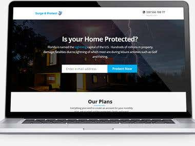 Surge and protect landing page