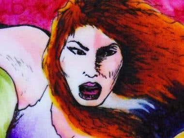 "Comic Book "" La Chica de Cyan """