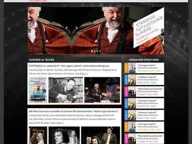 Theater Theme PSD to Wordpress