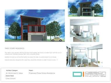 PROPOSED THREE STOREY RESIDENCE