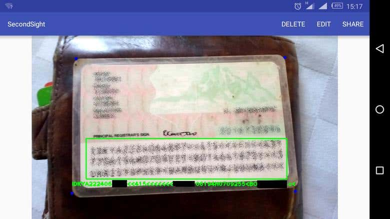 OpenCV ID Card MRZ detection with OCR | Freelancer