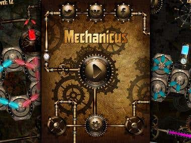 Steam punk puzzle Unity 3d game