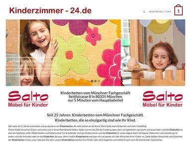 German website selling children`s furniture