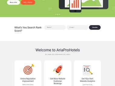 Wordpress Ariaprohotel websie