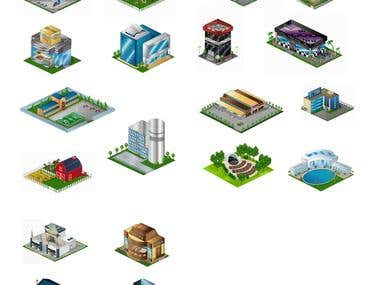 Game buildings