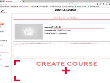 Create courses page