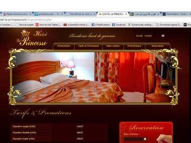 Site web vitrine d'un HOTEL