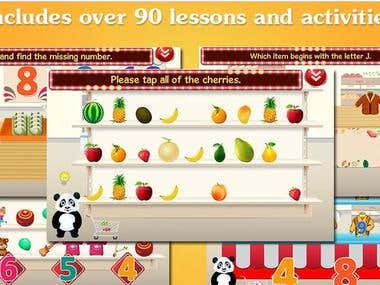 Panda's Supermarket - Educational App