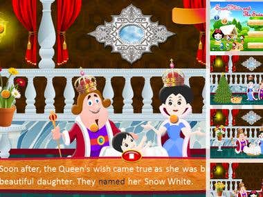 Snow White - Interactive Story Book