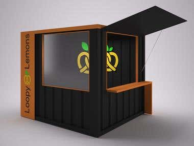 Shipping Container Kiosk Design