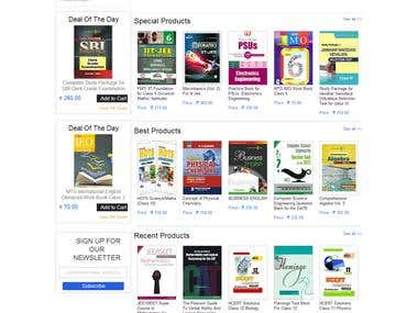 Ecommerce website using Magento for a Book Store