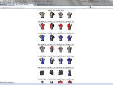 Sportwear Catalogue Designs