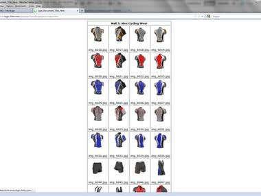 Sportwear Catalogue Designs