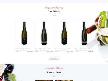 Exquiste Winery, Store, WooCommerce