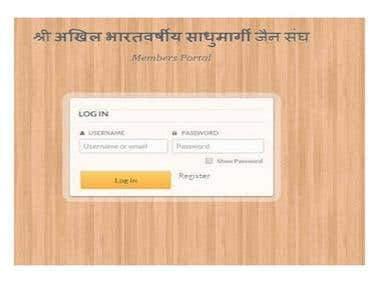 Jain samaj Database Software