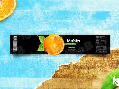 Mabip, orange juice.