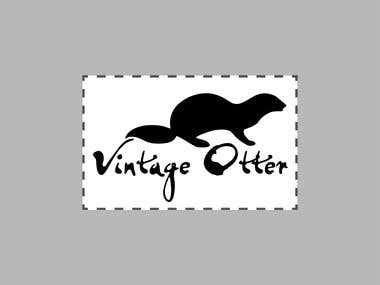 "logo option for ""Vintage Otter"""