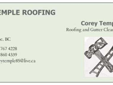 Temple Roofing Business Card
