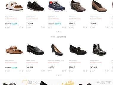 Magento Shopping Website
