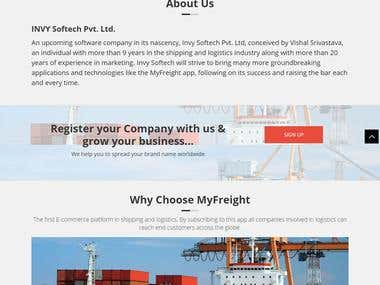 Ecommerce website for Shipping and Logistic