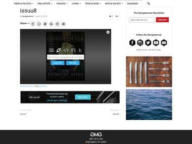 Integration of issuu publication in wordpress