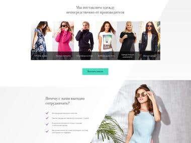 Langing page: web & mobile design