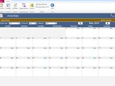 MS Access Calendar