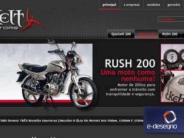 Joomla website design and development for motorcycle brand