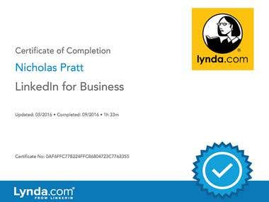 Lynda.com Certificate: LinkedIn for Business