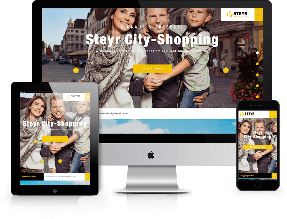 TYPO3 Website Developement  - STEYR-SHOPPING