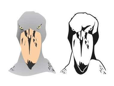 Shoebill vector