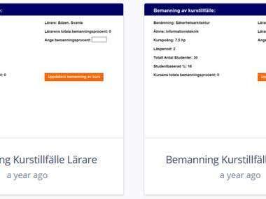 GUI (Java) Scheduler for University Teachers