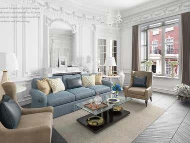 apartment in Kensington, London