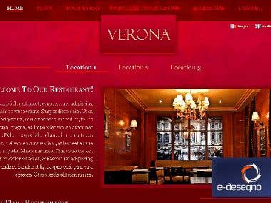 Joomla design and development for italian restaurant