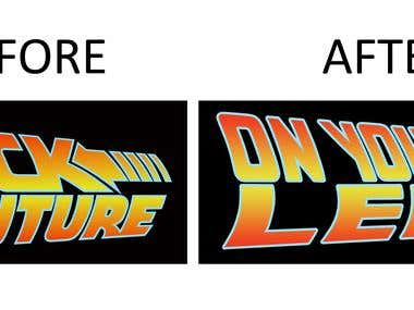 Recreate identically logo or image for better quality..