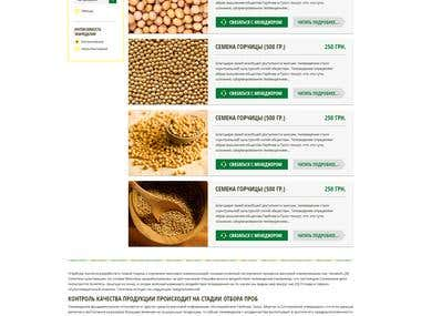 Agricultural company corporate website development