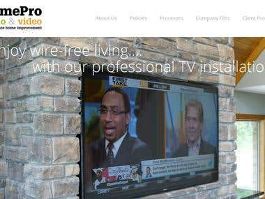 WordPress HomeProAV site