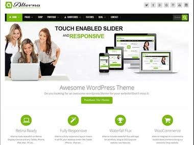 Altema WP theme setup and demo setup on a domain