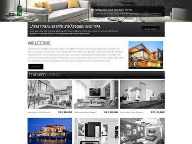 Website mock design for real estate company